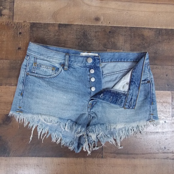 Free People Pants - We The Free button-fly shorts 27